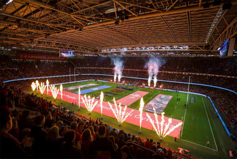 Rugby - Autumn Internationals 2020 - Principality Stadium - Riverside Terrace